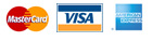 We accept MasterCard, VISA, American Express, checks, and money orders