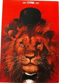 Original CYRK Poster 1963*72 seated lion and mouse 1931-2013 Artist Waldemar Swierzy